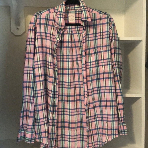 Brooks Brothers Other - Brooks Brothers Pink Plaid Button Down